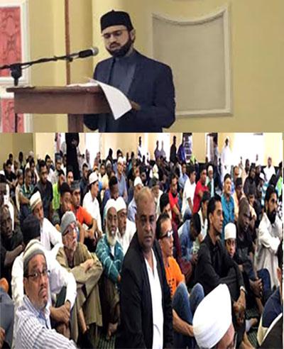 ڈربن: ڈاکٹر حسن محی الدین قادری کا جمعہ کے اجتماع سے خطاب