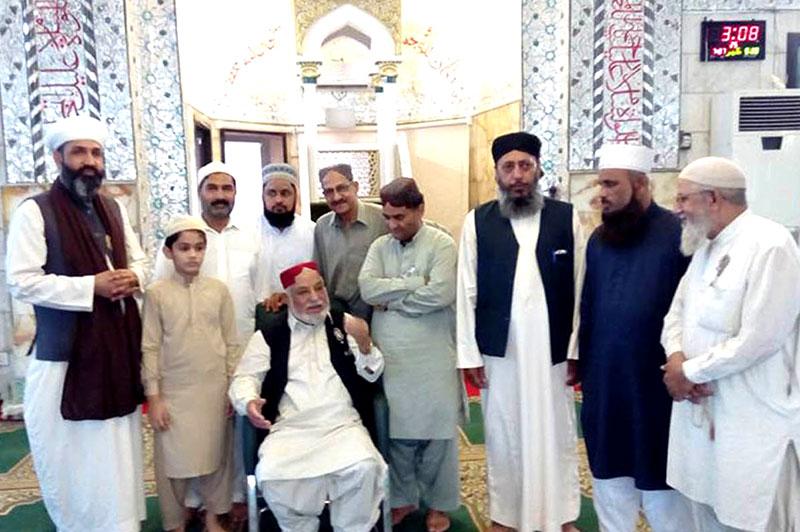 پاکستان عوامی تحریک کے رہنماء غلام علی خان کا دورہ کراچی