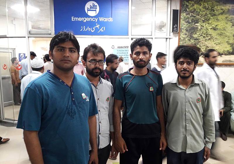 ایم ایس ایم کے نوجوانوں کا لاہور دھماکے کے زخمیوں کیلئے خون کا عطیہ