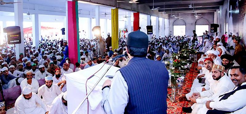 ڈاکٹر حسین محی الدین قادری کا پیر سید منیر حسین شاہ کے چہلم میں خطاب