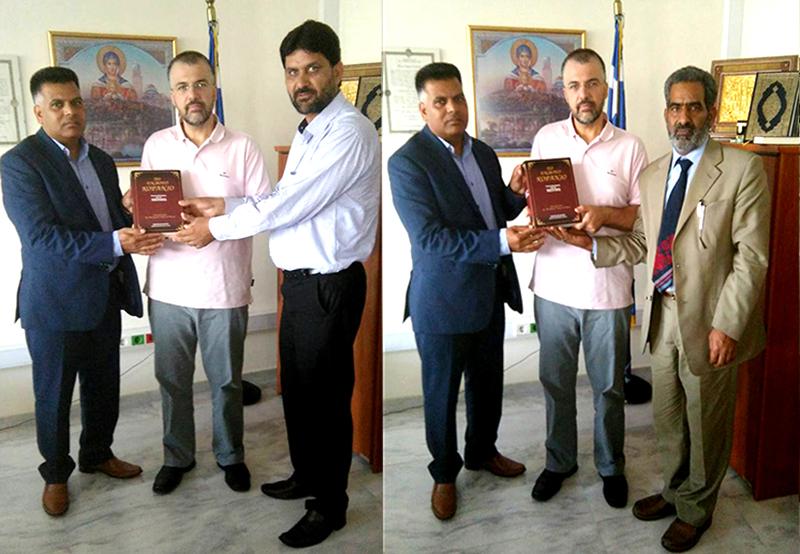 منہاج القرآن یونان کے صدر محمد اسلم چوہدری کی وزارت مذہبی امور یونان کے جنرل  سیکرٹری سے ملاقات