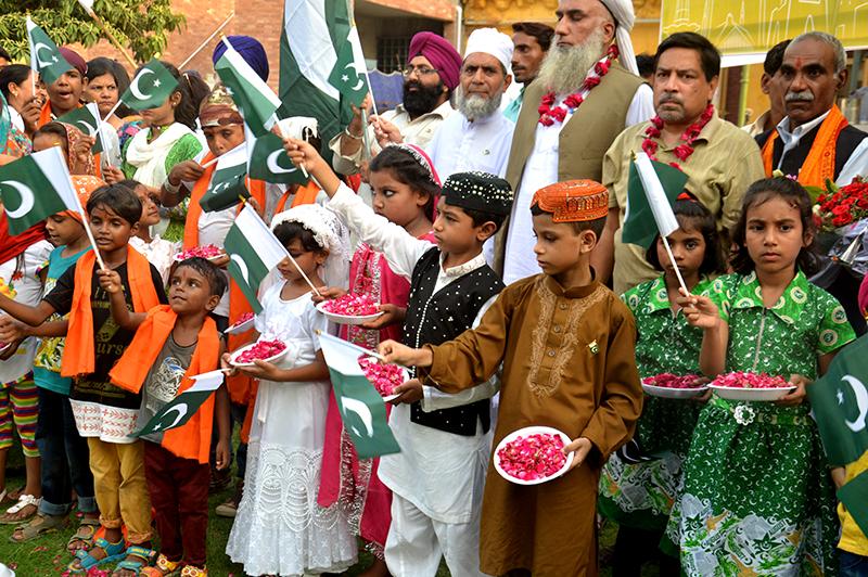گریٹر اقبال پارک مینار پاکستان میں بین المذاہب جشن آزادی تقریب