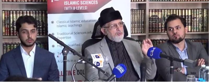 Dr Tahir-ul-Qadri asks world community to wage multi-pronged war against terrorism