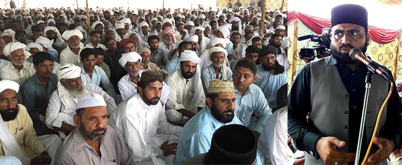 منہاج القرآن علماء کونسل کروڑ لعل عیسن کے صدر پیر معین الدین شاہ کاظمی کے  والد گرامی کی قل خوانی