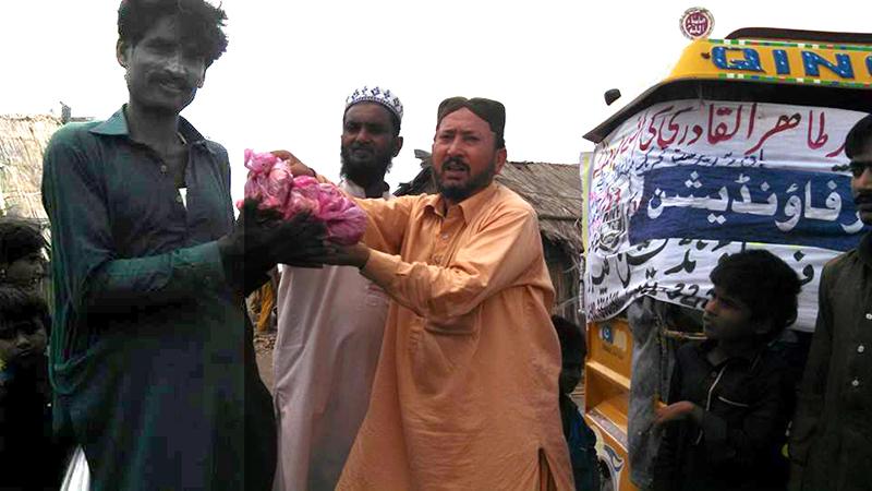 سندھ: منہاج ویلفیئر فاونڈیشن کھپرو کی قربانی کے گوشت کی تقسیم