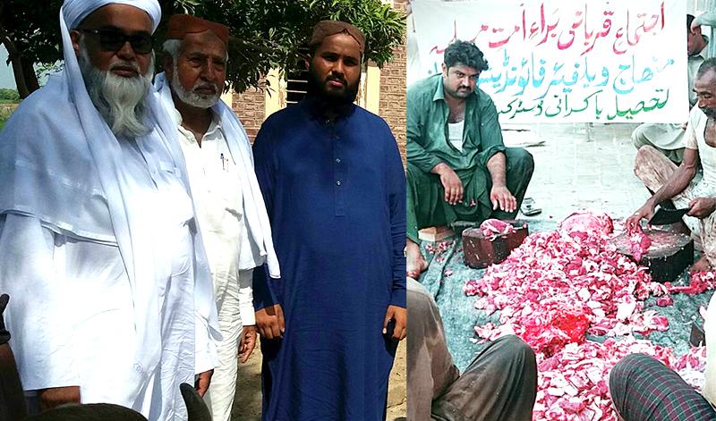 سندھ: منہاج ویلفیئر فاونڈیشن لاڑکانہ کے زیراہتمام اجتماعی قربانی