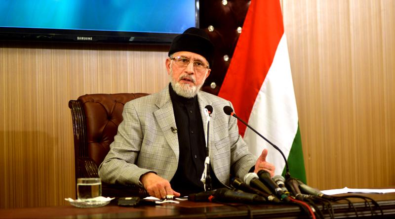 Pakistani rulers lack courage to speak for Muslim world: Dr Tahir-ul-Qadri