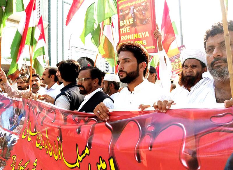 عوامی تحریک سرگودھا کا روہنگیا مسلمانوں کے لیے احتجاج