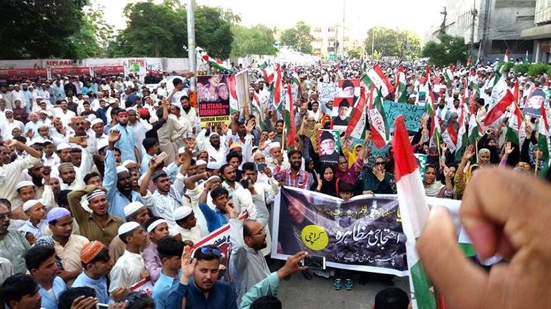 روہنگیا مسلمانوں کے قتل عام پر عالمی دنیا برما سے سفارتی تعلقات ختم کرے: عوامی تحریک کراچی