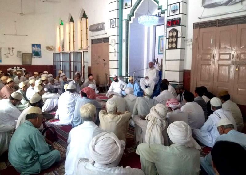 گجرات: محمد طارق قادری منہاجین (ڈنمارک) کے والد محترم کے رسم سوئم میں مرکزی وفد کی شرکت