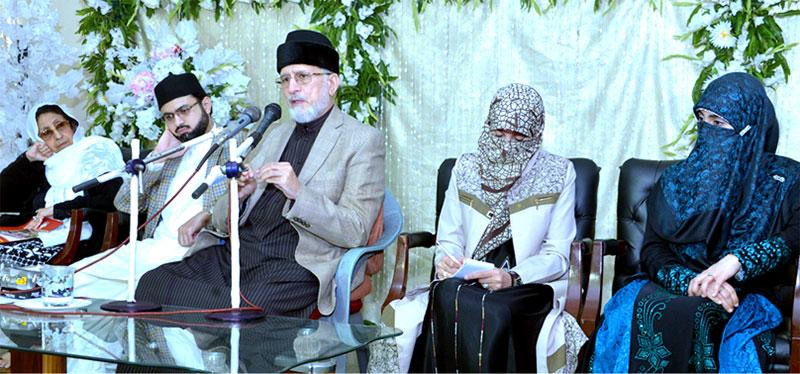 شیخ الاسلام ڈاکٹر محمد طاہرالقادری کا منہاج کالج برائے خواتین میں فکری و تربیتی نشست سے خطاب