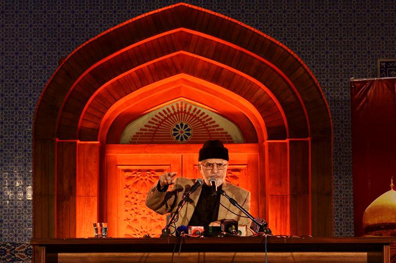 یزید نے اپنی سیاسی، مالی، اخلاقی کرپشن کو ریاستی دہشتگردی کے ذریعے تحفظ دیا: شہادت امام حسین کانفرنس میں ڈاکٹر طاہرالقادری کا خطاب