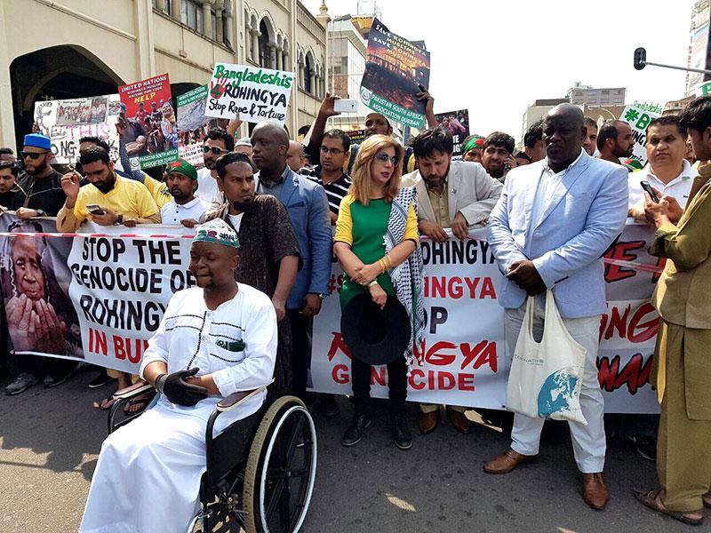 منہاج القرآن ساؤتھ افریقہ کی روہنگیا مسلمانوں کے حق میں مظاہرہ میں شرکت
