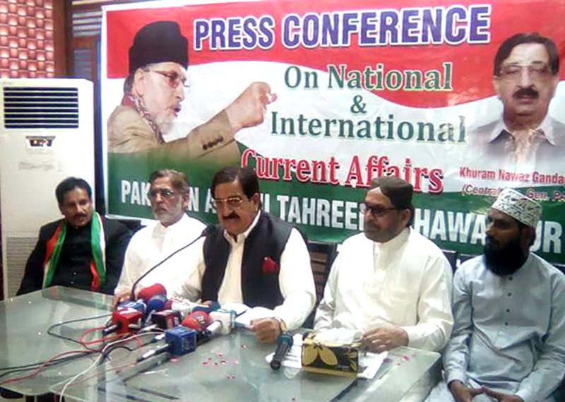 خرم نواز گنڈاپور کی بہاولپور میں انجمن تاجران کے راہنماوں سے ملاقات