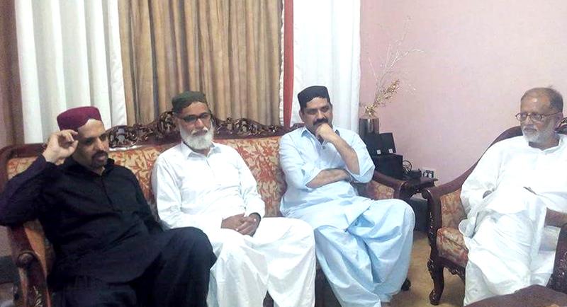 پی ایس پی کے رہنماوں کی امیرِ تحریک منہاج القرآن حیدرآباد یونس القادری سے  تعزیت