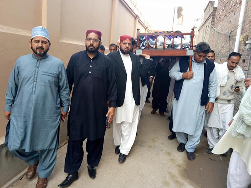 کھاریاں: منہاج القرآن انٹرنیشنل ناروے کے ناظم ویلفیئر ساجد حسین کے بھائی کی نماز جنازہ