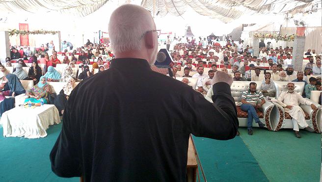 کراچی: مرکزی صدر پاکستان عوامی تحریک قاضی زاہد حسین کا وکررز سے خطاب