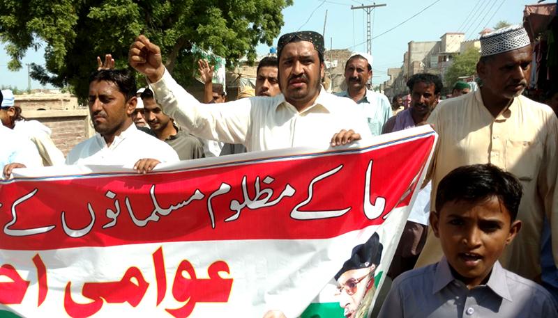 سندھ: پاکستان عوامی تحریک یوتھ ونگ ڈھرکی کا دھرنا