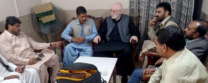 عوامی تحریک سندھ کے قائدین کی قاضی زاہد حسین سے ملاقات