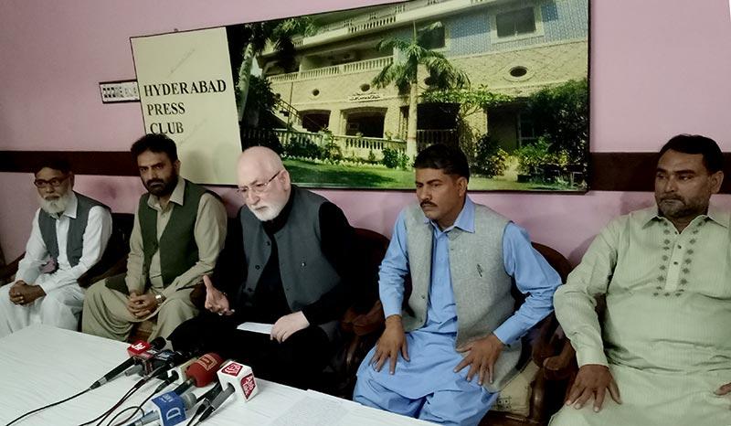 قاضی زاہد حسین کی حیدرآباد میں پریس کانفرنس