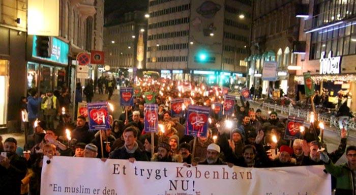 کوپن ہیگن: مشعل بردار میلاد امن مارچ میں ڈینش سیاستدانوں کی شرکت