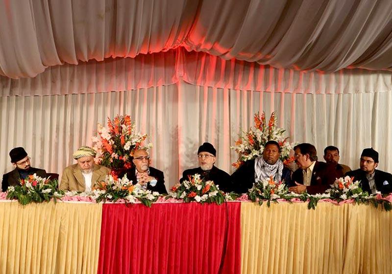 نیلسن منڈیلا کے پوتے مینڈلہ منڈیلا کے اعزاز میں ڈاکٹر طاہرالقادری کا عشائیہ