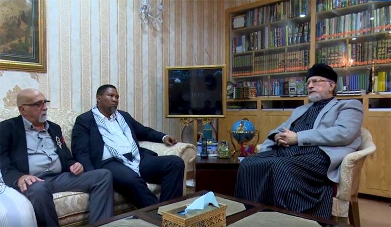 Dr A. V. Muhammad (Chairman Memon Community of South Africa) met Dr Muhammad Tahir-ul-Qadri