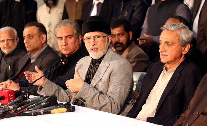 ڈاکٹر طاہرالقادری کے تین مطالبات، تحریک انصاف کی بھرپور حمایت