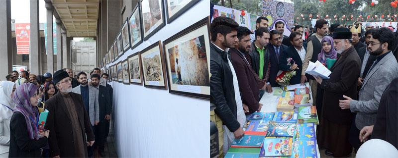 ڈاکٹر طاہرالقادری کی منہاج القرآن ویمن لیگ کے کڈز فیسٹول میں شرکت، مختلف سٹالز کا دورہ کیا