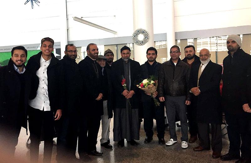 سفیر یورپ علامہ صادق قریشی دعوتی دورہ پر کینیڈا پہنچ گئے