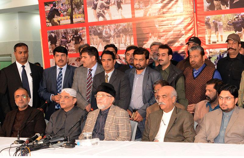آصف علی زرداری کی ڈاکٹر محمد طاہرالقادری سے ون ٹو ون طویل ملاقات