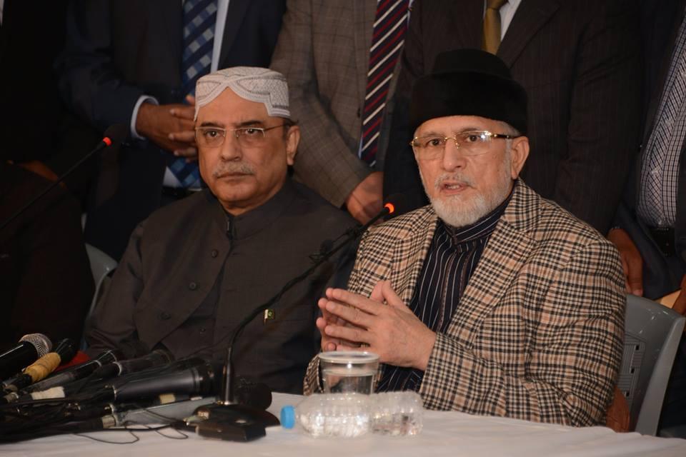 Asif Zardari & Dr Tahir-ul-Qadri hold detailed one-on-one meeting
