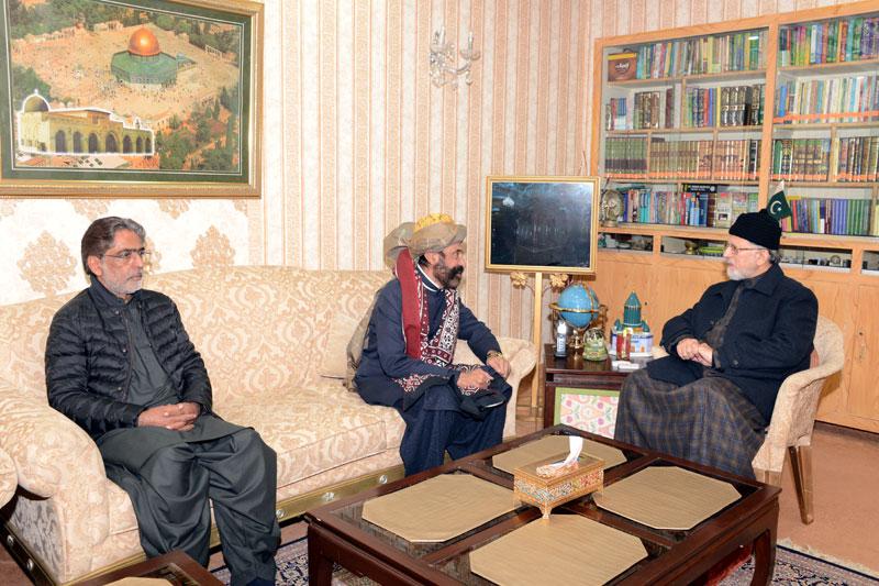 Pir Khawaja Attaullah Taunsvi calls on Dr Tahir-ul-Qadri