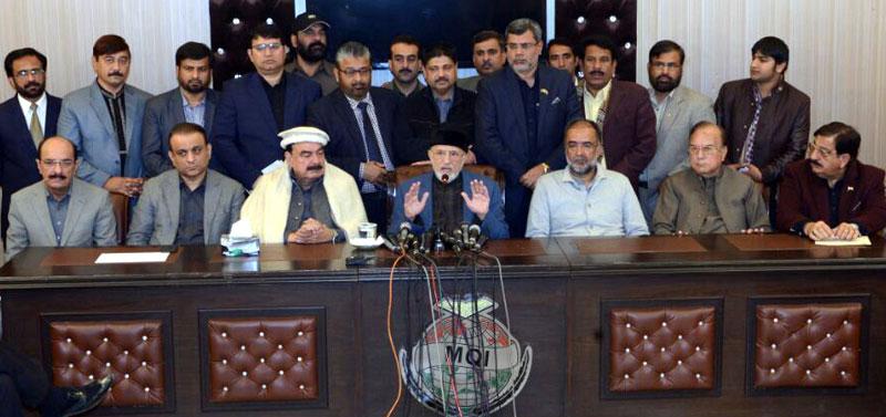 Imran Khan, Asif Zardari to address from the same container: Dr Tahir-ul-Qadri