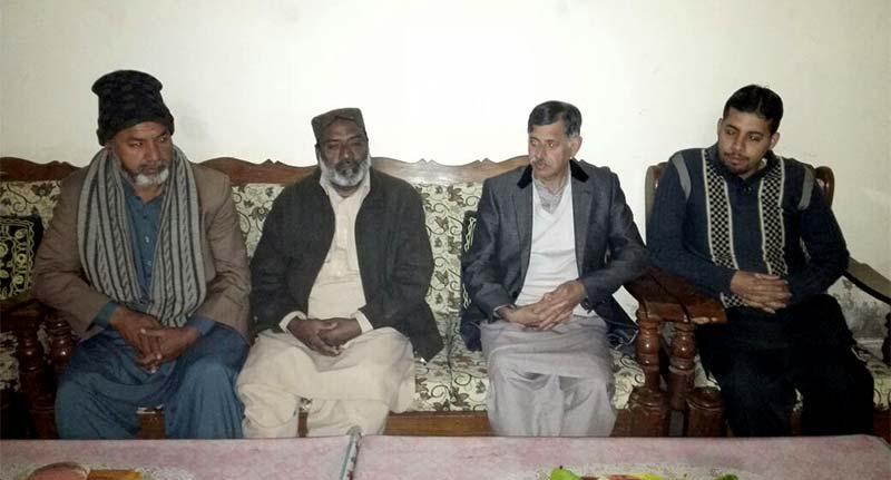 ہارون آباد: منہاج القرآن انٹرنیشنل گارج لے گونس فرانس کے ناظم مالیات شوکت علی  قادری کے والد گرامی کے انتقال پر تعزیت