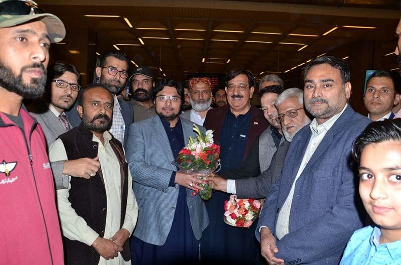 ڈاکٹر حسین محی الدین قادری اور خرم نواز گنڈاپور تنظیمی دورہ پر کراچی  پہنچ گئے