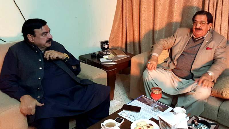 اسلام آباد: خرم نواز گنڈاپور کی شیخ رشید سے ملاقات