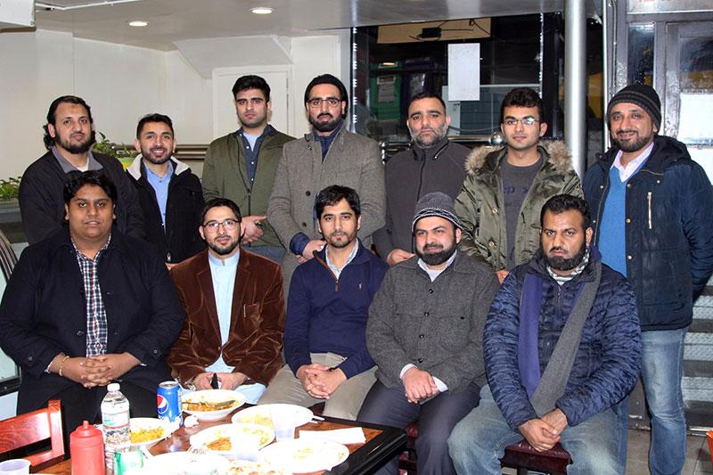 امریکہ: منہاج القرآن یوتھ لیگ چائنہ اور کینیڈا کے ممبران کے اعزاز میں عشائیہ