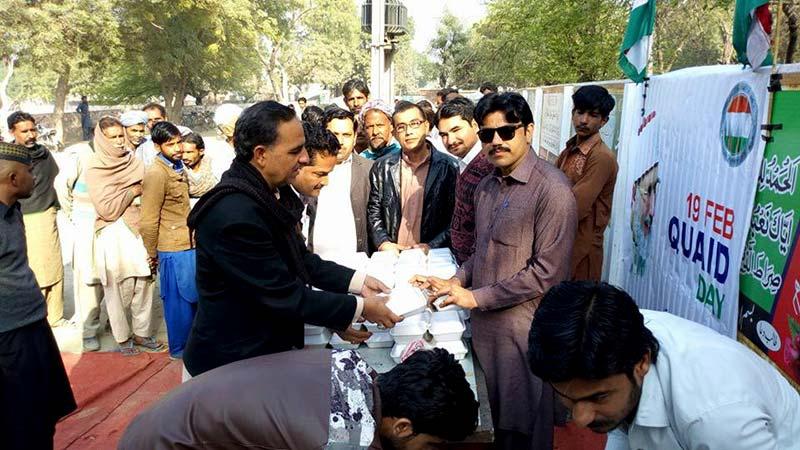 ہارون آباد: قائد ڈے کی خوشی میں کھانے کی تقسیم