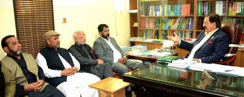 میاں منظور احمد وٹو کی عوامی تحریک کے رہنماؤں ڈاکٹر حسن محی الدین، خرم نواز گنڈاپور سے ملاقات