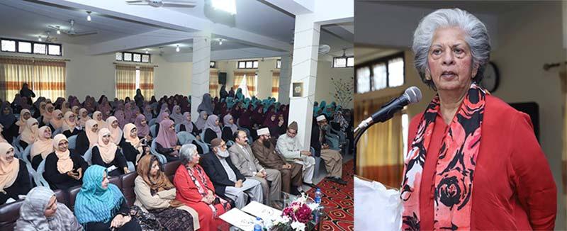 منہاج کالج فار ویمن میں سالانہ تقریب انعامات، بیگم عابدہ حسین کی شرکت