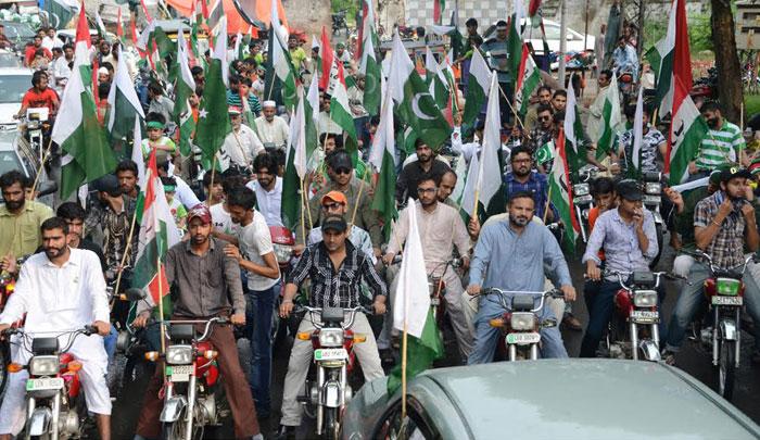 23 مارچ : عوامی تحریک یوتھ ونگ لاہور کی جیوے پاکستان موٹر سائیکل ریلی