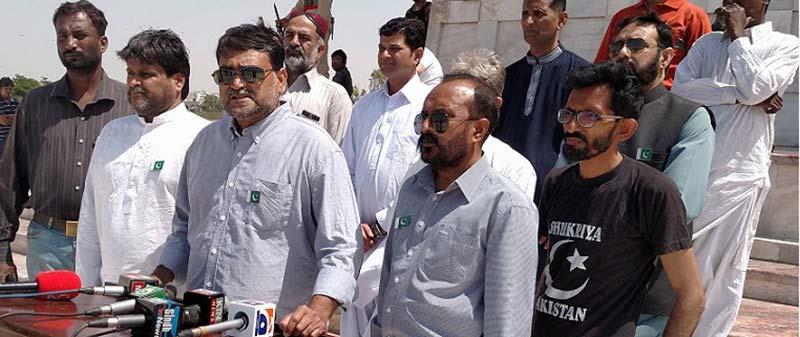 عوامی تحریک کراچی کے قائدین کی مزار قائد پر حاضری