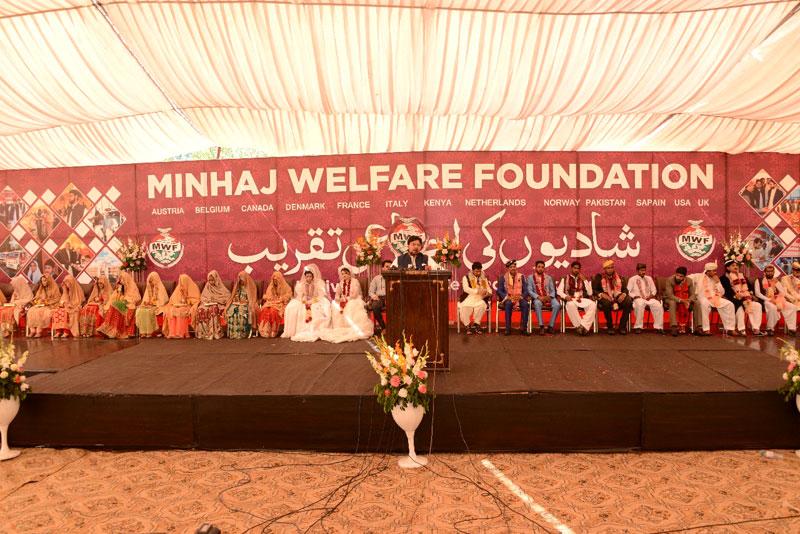 منہاج ویلفیئر فاؤنڈیشن کے زیراہتمام شادیوں کی اجتماعی تقریب، 23 جوڑے رشتہ ازدواج میں منسلک