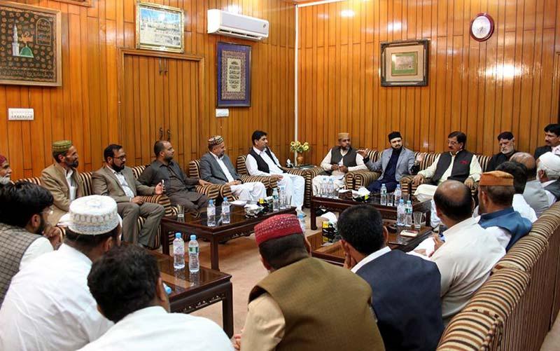 منہاج القران شمالی پنجاب کے عہدیداروں کی ڈاکٹر حسن محی الدین قادری سے ملاقات