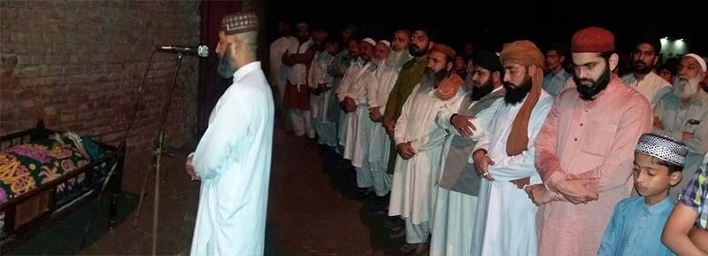 نظامت امور خارجہ کے سیکرٹری محمد وسیم افضل قادری کی والدہ کی نماز جنازہ