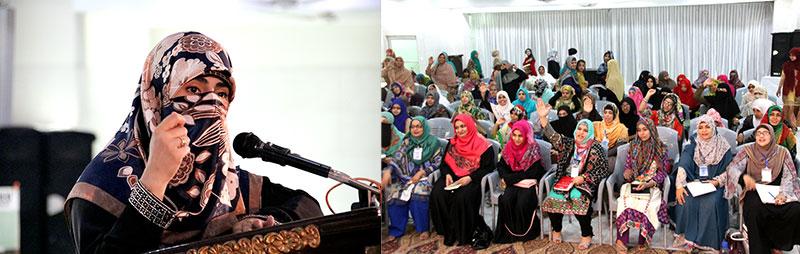 3rd Day of MWL Organizational Training Camp: Mrs. Fizza Hussain Qadri addresses 1st session