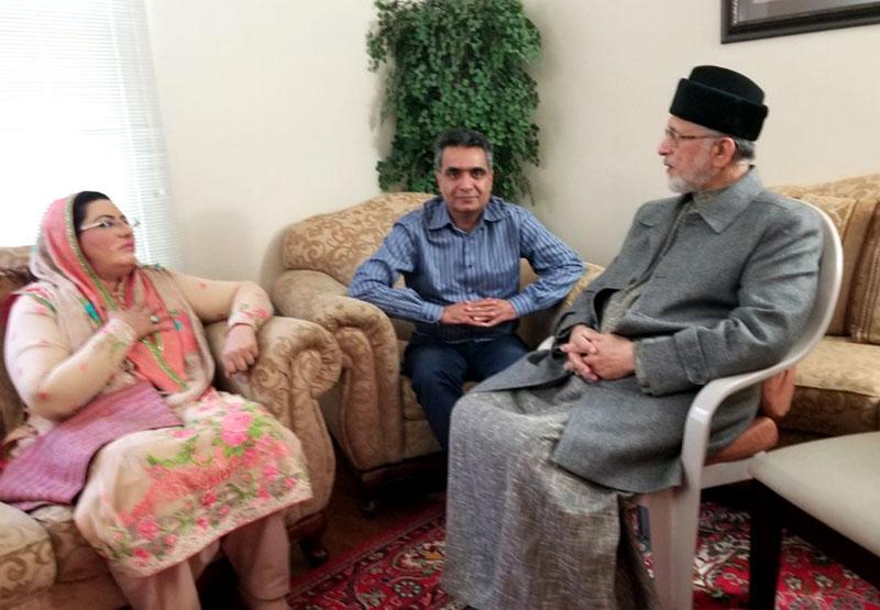 Dr Firdous Ashiq Awan calls on Dr Tahir-ul-Qadri