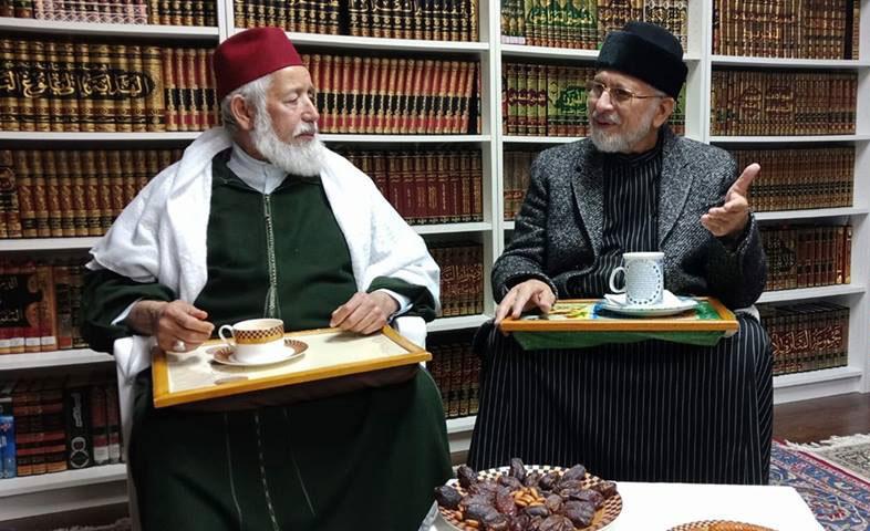 کینیڈا: مراکش کے عظیم روحانی بزرگ شیخ عبد ﷲ الحداد کی شیخ الاسلام ڈاکٹر محمد طاہرالقادری سے ملاقات
