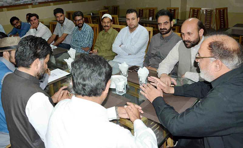 جمّوں کشمیر عوامی تحریک عباس پور کے وفد کی سردار منصور احمد خان سے ملاقات